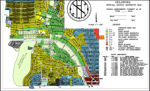 Oklahoma City Zoning Map City of Nichols Hills   Zoning Map